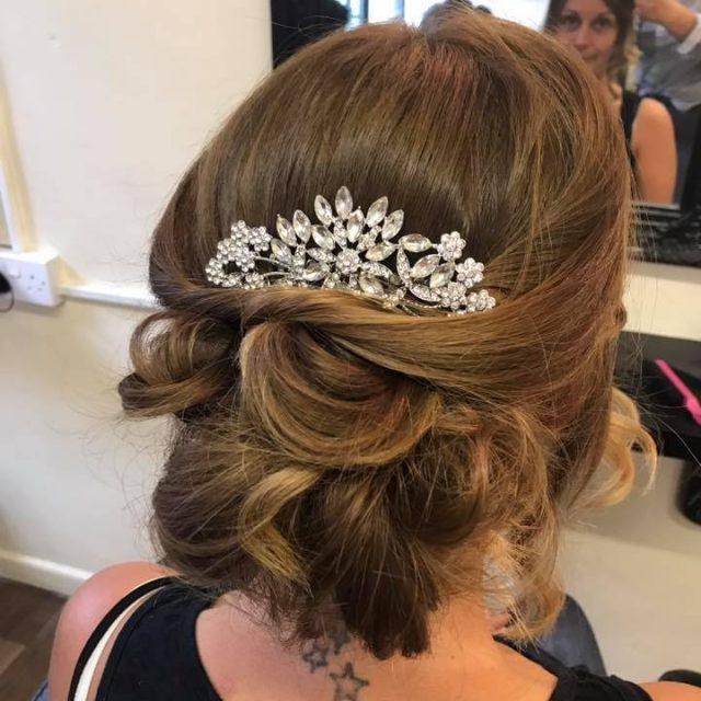 Bridesmaid Hair Up Trial